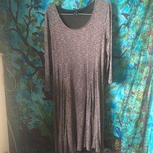 Textured A-Line Dress w/ belt loops